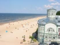 Пляж в Юрмале,Латвия